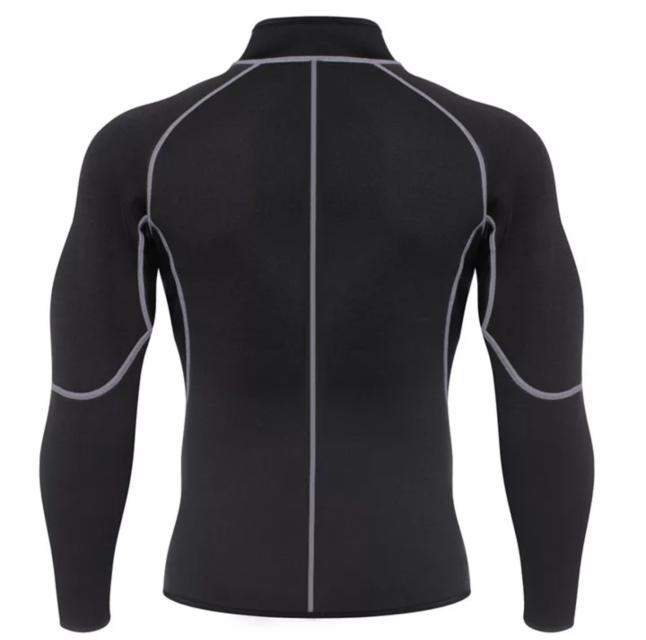 Men/'s Sweat Neoprene Weight Loss Sauna Suit Workout Shirt Body Shaper Jacket Gym
