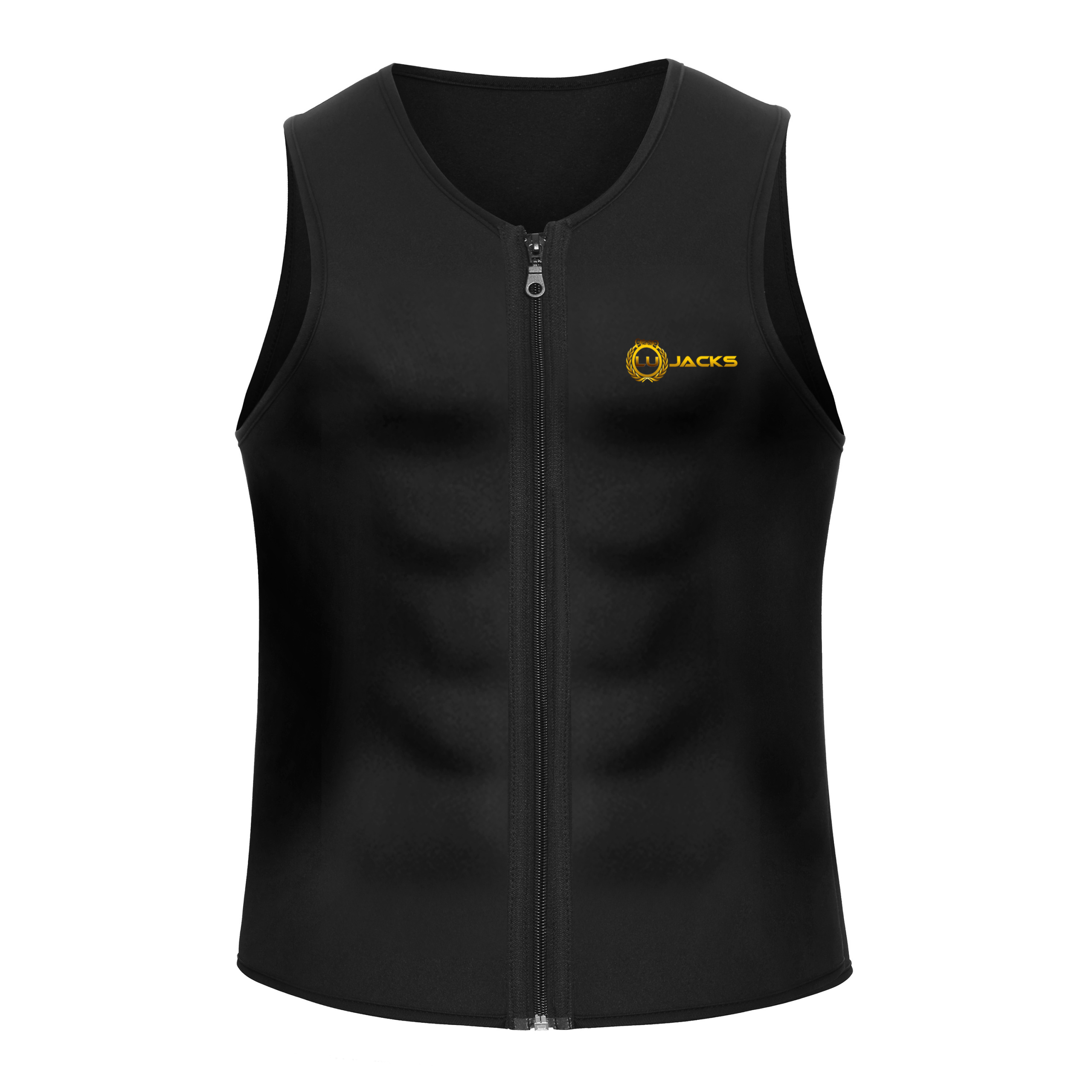 d51a9cb98e Men Waist Trainer Vest for Weightloss Hot Neoprene Corset Body Shaper  Zipper Sauna Tank Top Workout Shirt
